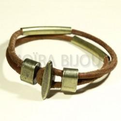 1fermoir crochet  plat fermoir T bronze pour cuir rond