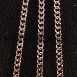 1 Mètre chaine acier inoxydable maillon plat 2.2mm