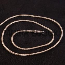 """5 mètres chaine laiton """"maille serpent """" soudée argenté 1mm"""