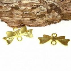 10 connecteurs noeud papillon doré 20x15mm