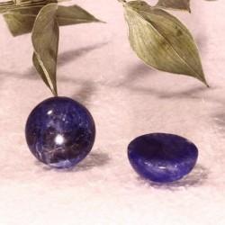 2 cabochons pierre semi-précieuse de sodalite 10mm