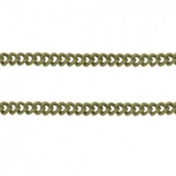 5mètres  SO96 chaine laiton  SOUDÉ  bronze maillon TORSION  2x2mm