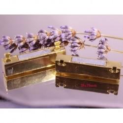 1 fermoirs magnétique rectangle doré  38x19mm pour bracelet manchette