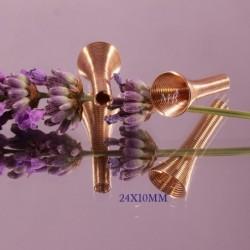 x 30 cônes coupelle trompette laiton doré 10x24mm