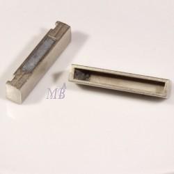 fermoirs magnétique rectangle argenté mat 38x19mm pour bracelet manchette