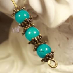 50 mini calottes étoile couleur bronze 5mm pour perles 4/6mm