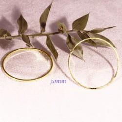 10 anneaux fermes rond laiton dore plaque connecteur 30mm