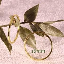 30 anneaux rond laiton doré ferme 18mm