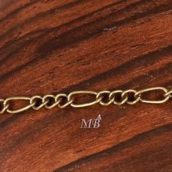 1 mètre CH005Y de chaine deux maillons 3x6mm et 2,5x3,5mm  couleur bronze ovale