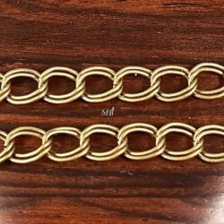 1 mètre CH001Y chaine maillon double couleur bronze fantaisie 7x8mm