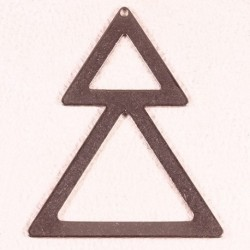 2 connecteurs triangle double acier inoxydable 50x40mm