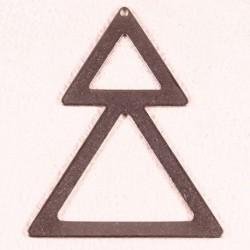 4 connecteurs triangle double acier inoxydable 50x40mm