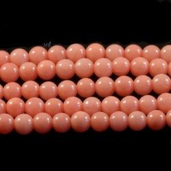 20 perles de corail véritable rose saumon   diamètre 4mm