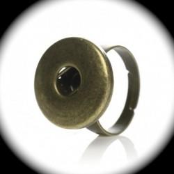 1support bague pour bouton pression bronze 18mm