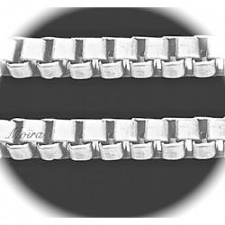 """1 mètre chaine """"Venise """" a maille carré métal argenté silver 3,2x3,2mm"""