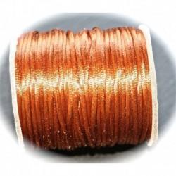 5 mètres caramel cuivré   fil de nylon satiné épaisseur 2mm
