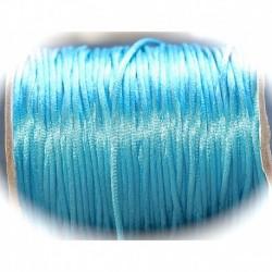 5 mètres turquoise  fil de nylon satiné épaisseur 2mm