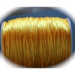 fil de nylon satiné  jaune épaisseur 2mmx5m