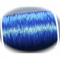 5 mètres bleu canard de  fil de nylon satiné épaisseur 2mm