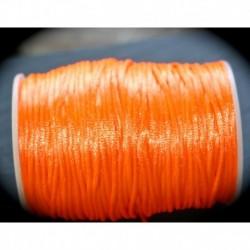 5 mètres orange de  fil de nylon satiné épaisseur 2mm
