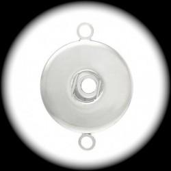 connecteur métal argenté pour insertion pression chunk 26mm