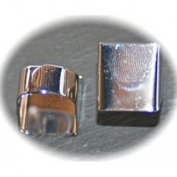 x10 supports de  bagues métal argenté couleur platine 20x16mm