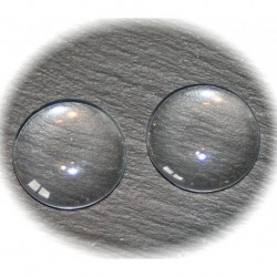10 cabochons en verre transparent 25mm