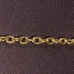 1mètre  chaine maillon ovale 5YHS métal doré  clair strié 3x2mm