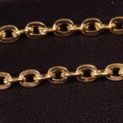 1 mètre S105 chaîne  plaqué or ovale 4x3mm épaisseur 0,8mm