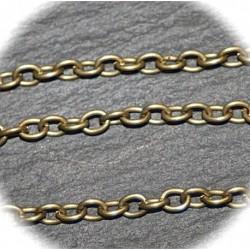 x5 metres S041 chaine bronze antique  maillon ovale  2,5x2,8mm