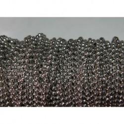 x5m chaine boule métal argenté 1,5mm couleur nickel