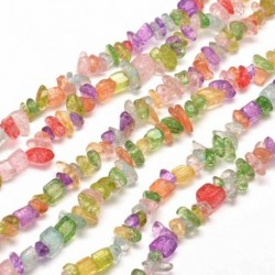 perles chips quartz multicolore (320perles) teinté 82mm