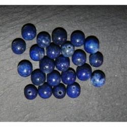 x10 perles de pierre semi-précieuse de lapis -lazuli 6mm bleu nuit