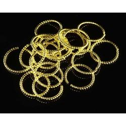 10 anneaux laiton or torsades rond ouvert 14mm
