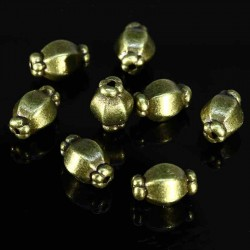 20 perles bronze intercalaire bonboniere 10mm