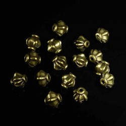 30 perles lanterne bronze 8mm