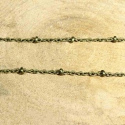 5 mètres de  chaine laiton fantaisie bronze 2x1.5mm