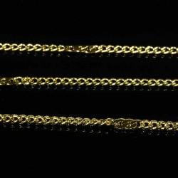 1 mètre de chaine laiton doré fantaisie 2mm