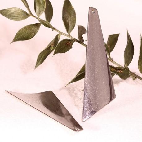4 triangle acier lisse grand modele 57x17 mm. Black Bedroom Furniture Sets. Home Design Ideas