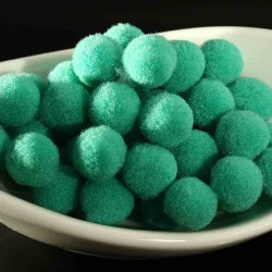 20 pompons boule ronds 10mm vert turquoise peluche
