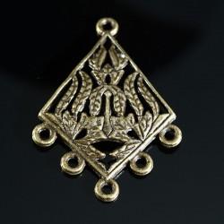 4 chandeliers connetceurs losange ethnique bronze 39x27mm
