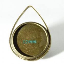 8 supports pendentif cabochon bronze 20x15mm