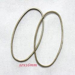 20 anneaux ovale connecteur laiton bronze 30x16mm