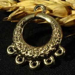 4 mini chandeliers lustre connetceur doré or fin 20 mm