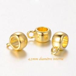 20 belieres liens metal doré 11,5x8mm