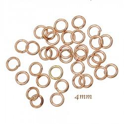 100 anneaux de jonction ouvert or rose 4mm