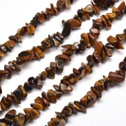 perles de pierre naturelle chips oeil de tigre  (320perles)  82mm