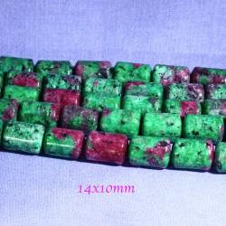 pierre gemme perle colonne zoisite x6 14x10mm