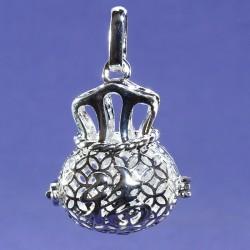 bola grossesse plaque argent couronne 30mm