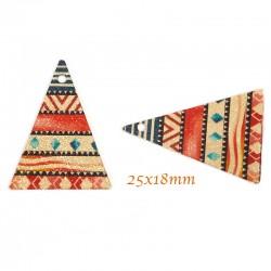sequin triangle x4 peinture émail multicolore 25x18mm